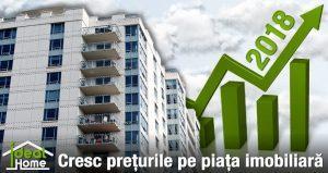 Prețurile pe piața imobiliară cresc în 2018